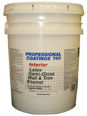 True Value ACP14-5G PCG 5GAL White SG Paint - Quality Interior Latex Paint Semi