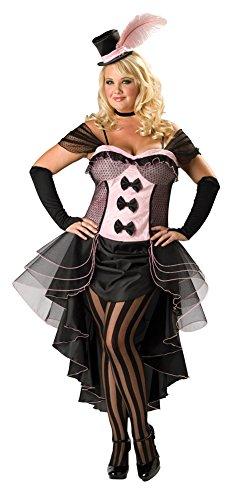 Burlesque Costumes Size 22 (Burlesque Babe Costume - Plus Size 2X - Dress Size 20-22)