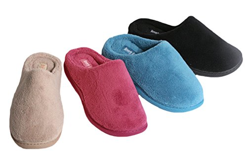 Microterry Memory Foam Feel Plus Klompslip Voor Vrouw-diverse Leuke Kleuren Zwart