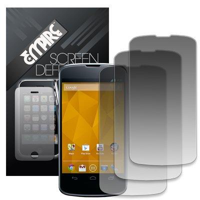 EMPIRE 3 Pack of Matte Anti-Glare Screen Protectors for LG Google Nexus 4 E960