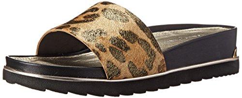 Donald J Pliner Women's Cava Wedge Sandal, Leopard Print Metallic Haircalf, 9 M US