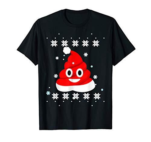 Christmas Poop Emojis Outfit - Santa Hat Toddlers Xmas T-Shirt