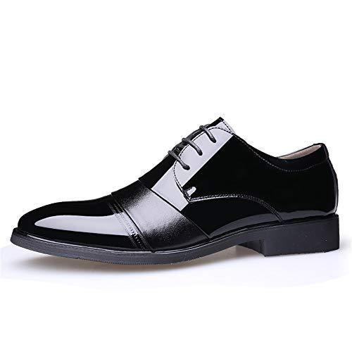 Oxford Dimensione cerimonia in stile da le Casual punta British scarpe 2018 Nero Stringate shoes EU Nero pelle uomo Scarpe Xujw Business a Basse verniciata 42 da respira colore Color R04nzxZ6n