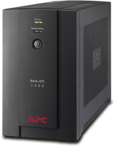 APC Back-UPS BX - Unterbrechungsfreie Stromversorgung 1400VA, - BX1400U-GR - AVR, 4 Schuko Ausgänge, USB, Shutdown Software