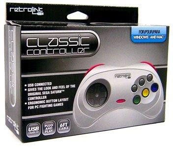 - Retrolink USB SEGA Saturn Classic Controller [White]