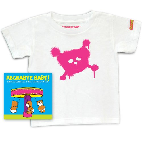 Rockabye Baby! Lullaby Renditions of Dave Matthews Band + Rockabye Baby 100% Organic Cotton Toddler T-Shirt (White/Pink)]()