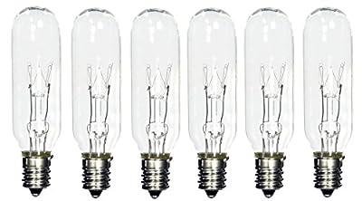 ShineBright 25 Watt tubular bulbs for Himalayan Salt Lamps (Package of 6 bulbs) - fits E12 Socket