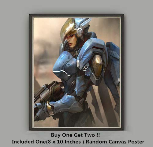 QG Art Victory of Dargon Ninja Master Genji Video Game Canvas Poster Wall Decoration,No Frame