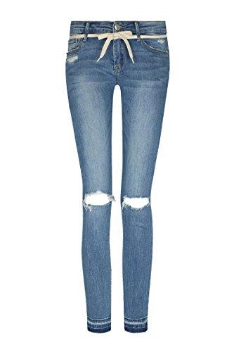 TALLY WEiJL - Jeans Vita Bassa Destroyed - Donna - Blue