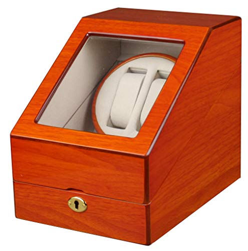 - Kendal Double Automatic Wood Watch Winder 3 storages with lock - W2+3oak