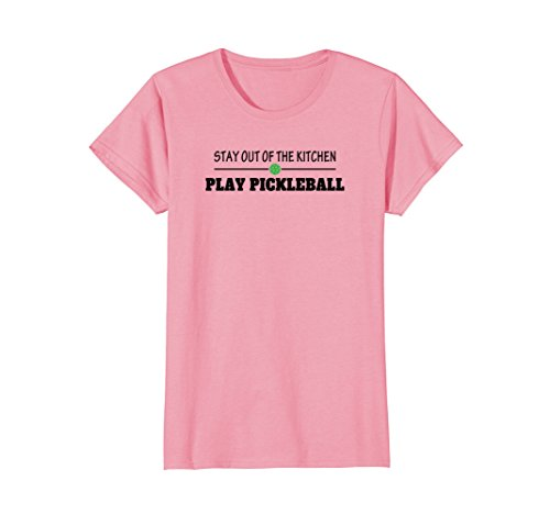Womens Pickleball - Stay Out of the Kitchen Play Pickleball T-Shirt Large Pink