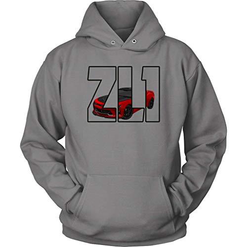 Camaro ZL1 Chevy Muscle Car Hoodie Sweatshirt Grey (Chevy Camaro Zl1)