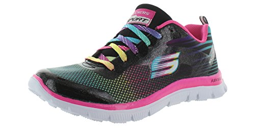 Skechers Girls' Skech Appeal Britespeed Sneaker,Black/Multi,US 11 M