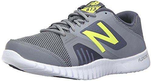New Balance Mens 613v1 Cross Training Shoe, Gris/amarillo, 45 EU/10.5 UK