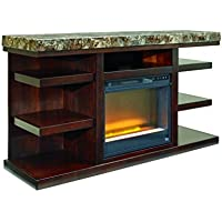 Signature Design by Ashley W687-68 Kraleene Collection TV Stand, 60, Dark Brown