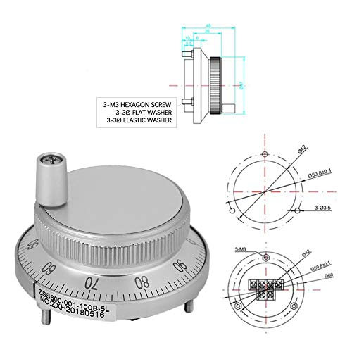sjlerst Pulse Encoder, High Reliability Lightweight 6 Terminal Pulse Generator, Manual CNC Milling Machine for Manual Pulse Input Type for CNC System(White)