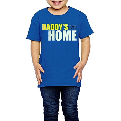 Handson 2-6 Years Kids Daddy's Home Tshirt RoyalBlue Size 3 - Ambrosio Linda
