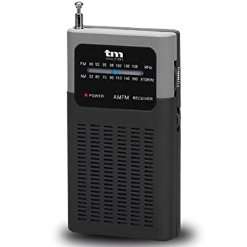 TM Electron TMRAD200 - Radio analógica portátil FM/Am, Color Negro: Amazon.es: Electrónica
