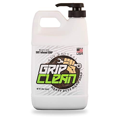 - Grip Clean | Heavy Duty Hand Cleaner - Dirt Infused & All Natural Industrial Strength Soap (1/2 gal)