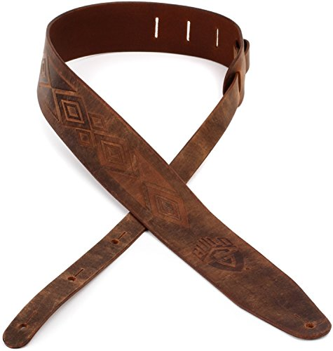 350 Leather (Guild Tooled Americana Leather Guitar Strap - 350-0613-050)