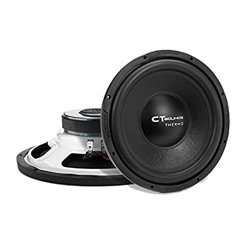 CT Sounds Thermo 12 Inch Shallow Mount Car Subwoofer 300w RMS Dual 4 Ohm (12 Subs Shallow)