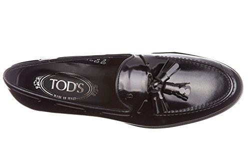 Tod's mocassini donna in pelle originale gomma xl nappine lace nero