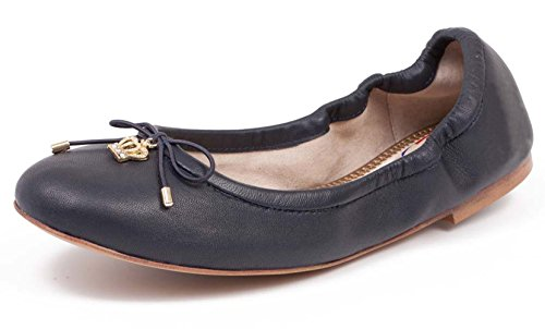 ABUSA Womens Leather/Suede Ballet Flat Foldable Pointed Toe Shoes Flats-clearance Black Leather 8RsjvRE