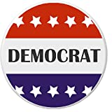 "Democrat Stars 2.25"" Large Pinback Button Pin Campaign Election Political Party"