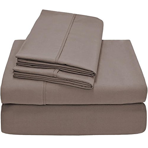 Twin XL Sheet Set, Twin Extra Long, 3-Piece Ultra-Soft Premium Bed Sheets /Taupe from Unknown