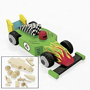 Amazon Com Design Your Own Unfinished Wood Race Car Kit