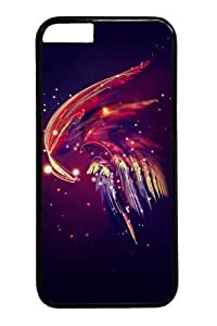 Abstract plume Custom iphone 6 plus Case Cover Polycarbonate Black