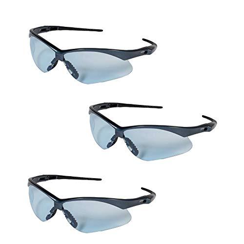 Jackson Safety V30 19639 Nemesis Safety Glasses (3 Pair) (Blue Frame with Light Blue -