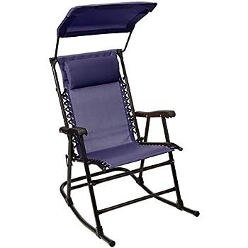 Amazon Com Bliss Hammocks Gfr 091jr Outdoor Rocking Chair With Canopy Jacquard Garden Amp Outdoor