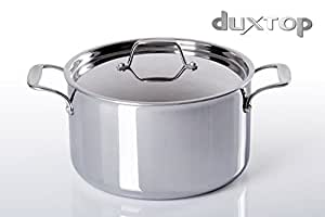 Duxtop Whole-Clad Tri-Ply Stainless Steel Induction Ready Premium Cookware SaucePan with Cover 6-1/2-Quart
