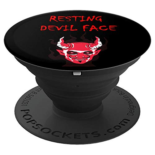 Really Scary Halloween Photos (Really Scary Creepy Horror Devil Horns Face Halloween PopSockets Grip and Stand for Phones and)