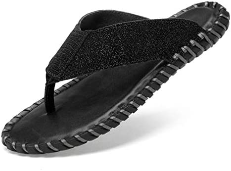 サンダル トングサンダル メンズ ビーチサンダル 高級レザー 防滑 吸汗防臭サンダル アウトドア 柔らか スリッパ 夏靴 黒 24.0cm~27.5cm 滑り止め 通気性抜群 軽快 着脱簡単 リゾート