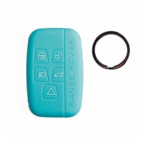 Silipac New Color Protective Silicone Car Key Cover Keyless Entry Remote Holder Rubber Case Skin Fob Protector Shell For Land Rover Range Rover Evoque Discover Sport Qq Key Ring