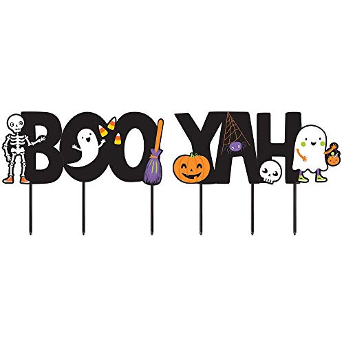 Halloween Boo-Yah Yard Signs halloween trick or treat party decoration]()