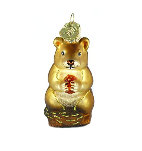 (Old World Christmas Ornaments: Chipmunk Glass Blown Ornaments for Christmas Tree)
