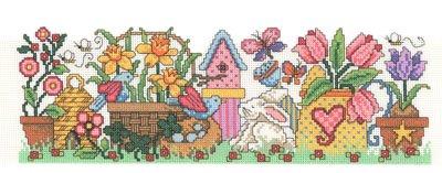 Spring Jar Wrapper Cross Stitch Chart