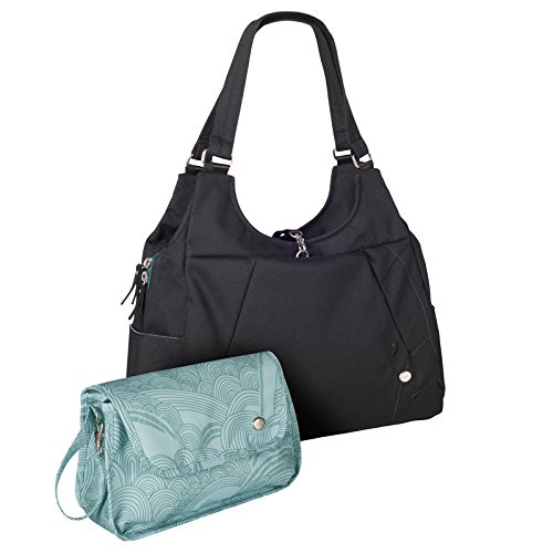 Haiku Women's Renaissance Mama Eco Laptop Tote Bag (w/ Diaper Changing Kit), Black Juniper