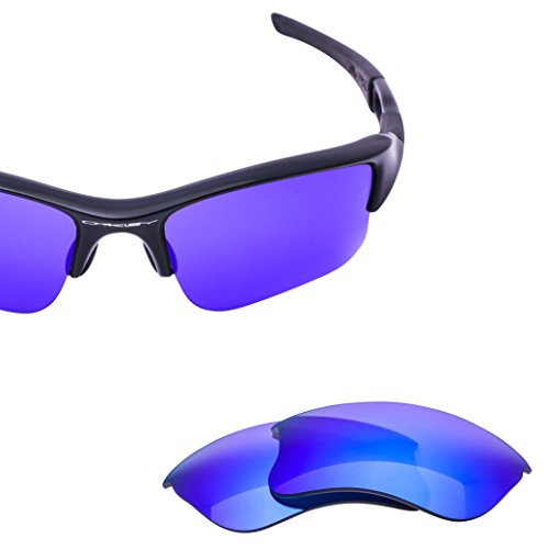 LenzFlip Replacement Lenses for Oakley FLAK JACKET XLJ - Gray Polarized with Blue Mirror - Lenses Mirror O Frame Oakley