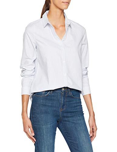 Kentucky Shirt Pcirena Noos White Pieces Stripes Donna bright Camicia Multicolore Blue Ls Oxford wAPttx4g