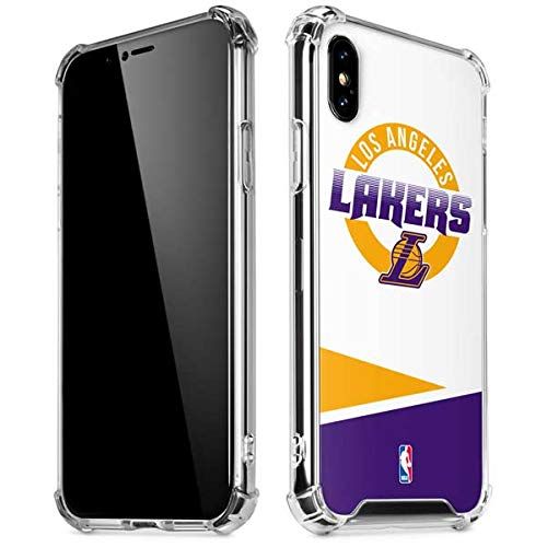 separation shoes 0ded7 bfdb4 Amazon.com: Skinit Los Angeles Lakers Split iPhone X/XS Clear Case ...