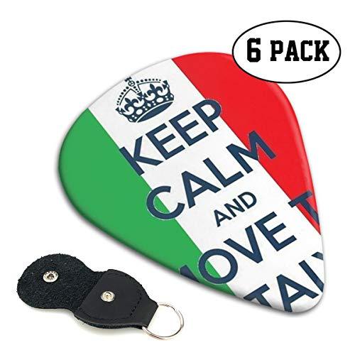 [해외]Xzyauza 침착을 유지 하 고 이탈리아로 이동 셀 룰 로이드 기타 추천 프리미엄 추천 6 팩 GuitarMandolinand 베이스 0.46 mm 0.71 mm 0.96 mm 옵션 PU 가죽 선택 홀더 / Xzyauza Keep Calm and Move to Italy Celluloid Guitar Picks Premium Picks ...