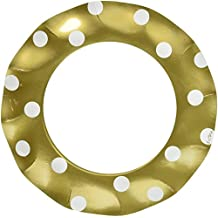 Sophistiplate Gold Polka Dot Paper Dinner Plates - 20pk for Holidays, Parties, Showers, & Special Entertaining! Made in Italy