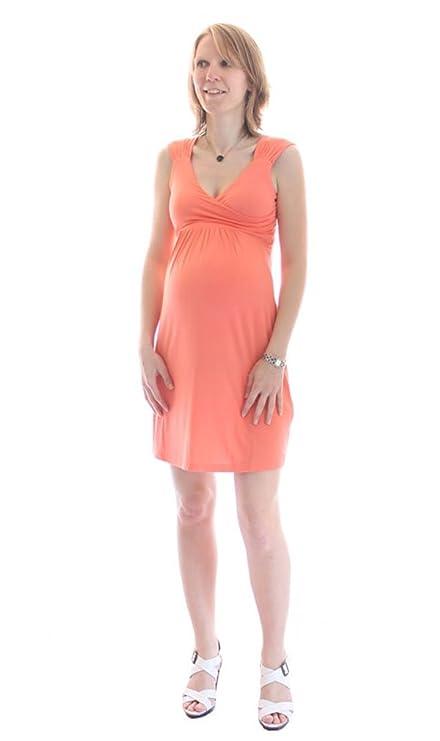 Robe de grossesse city   maternité - Corail (S)  Amazon.fr  Vêtements et  accessoires 4b1f92eabc87