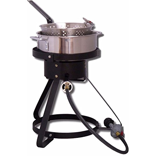"King Kooker 16"" Outdoor Cooker with 7 Quart Stainless Steel Pot by Outdoor Cooke"
