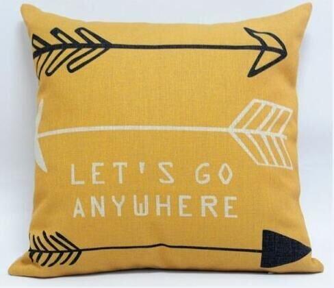 Feather Arrow Magic squares Cotton Linen Throw Pillow Case Cushion Cover Home Sofa Decorative 18 X 18 Inch (4)