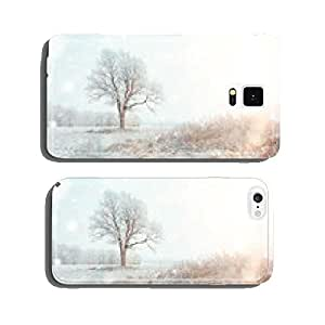 white wood covered with frost frosty landscape cell phone cover case iPhone6